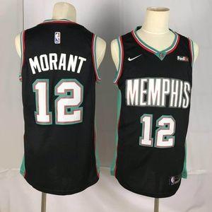Memphis Grizzlies 12 Ja Morant Jersey black